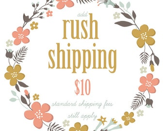 Rush Order & Priority Mail - US ONLY
