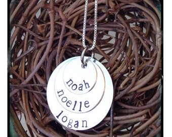 Personalized Hand Stamped Layered Necklace