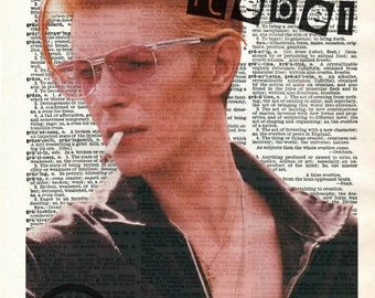 David Bowie Dictionary Art Print