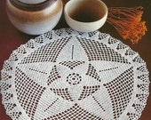 Crocheted Doily - Star free shipping