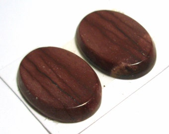 Australian Mookaite Cabochon Pair - Perfect for Earrings or Cufflinks
