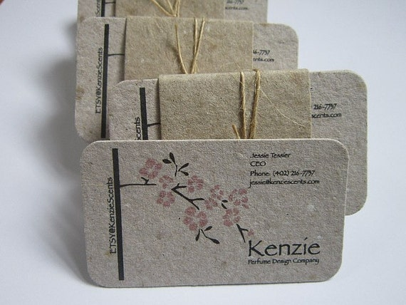 Rounded Corner Business Cards Handmade Paper Business Cards