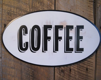 Coffee - Wooden Sign