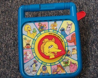 Sesame Street Playskool vintage See 'n Say / See & Say talking child's toy - 1989