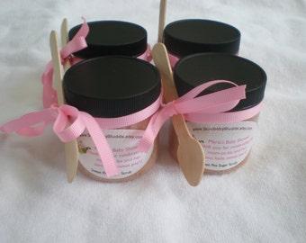 Set of 50 - 4oz Sugar Scrub or Salt Bridal Shower Favors, Baby Shower Sugar Scrub Favors//All Natural