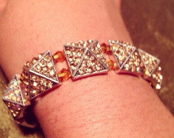 Champagne Studded Sparkle Bracelet