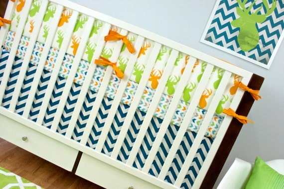 Deer Crib Bedding Woodland Nursery Baby Set Boy
