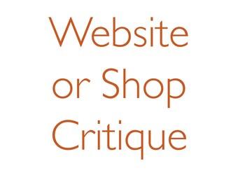 Critique - Etsy Shop or Website
