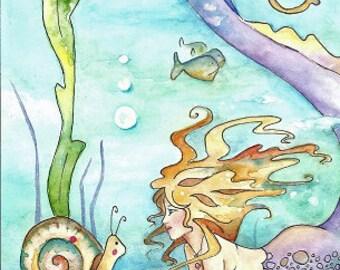Eris..11x14 mermaid print