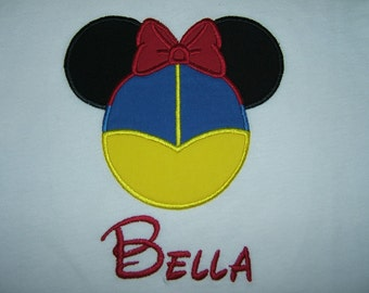 Personalized Minnie Mouse Snow White Shirt
