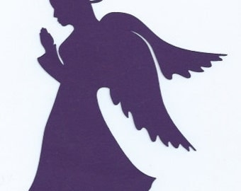Praying angel silhouette