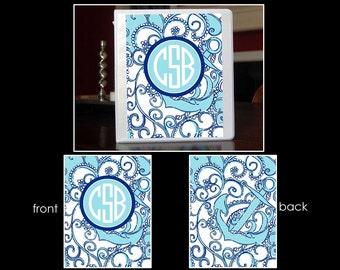 SSU~Personalized Monogram Notebook Insert for 3 Ring Binder or Printable