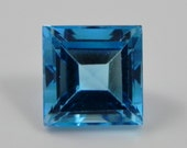 Faceted 5mm Square swiss Blue Topaz, brazil  WHOLESALE best quality