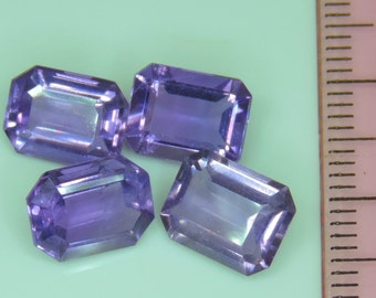 7.85 CTS purple amethyst lot octagon cut, Brazil