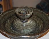 "Ceramic Cat Fountain, Handmade, Foodsafe -  ""Piazza Antiqua"" - 11.75 Inch Diameter"