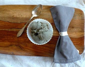 Vintage Silverware HIS & HER Ice Cream Spoon Hand Stamped Set