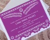 Fiesta Papel Picado Printable Party Invitation