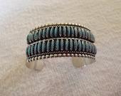 Zuni Style Turquoise Cuff Bracelet
