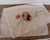 Vintage Standard PillowCase, Grandma Silhouette