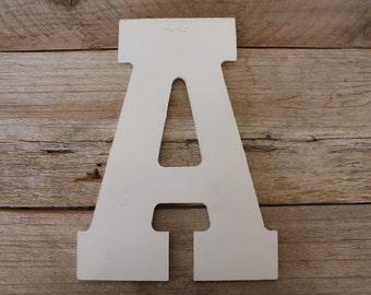 White Letter A, Capital, Upper Case