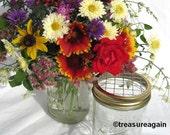6 Wide Gold Flower Frog Lids DIY Wedding Mason Jar Flowers Centerpieces or Garden Floral Arrangement Lids Only, No Jars