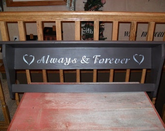 Always and Forever Quilt Rack