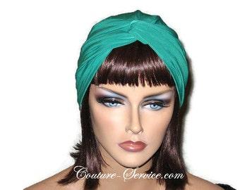 Green Turban, Money Green, Women's Handmade, Fashionable, Fashion, Full, Head, Hair, Twist Turban, Turbin, Hat, Solid Green, Turbante