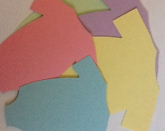 """3.5"""" onesie die cuts for large tags, cards, scrapbooks, smash books..."""