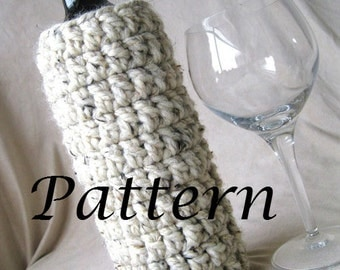 Instant Download - Wine Bottle Cozy Crochet Pattern - Fits 750 ml standard wine bottle - May sell finished product