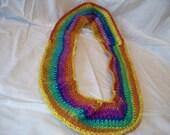 Rainbow colored, Infinity fashion scarf
