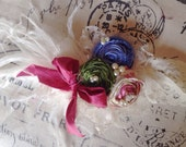 Once Upon a Dream Petite Stretch Lace Headband in Blue, Pink, and Green