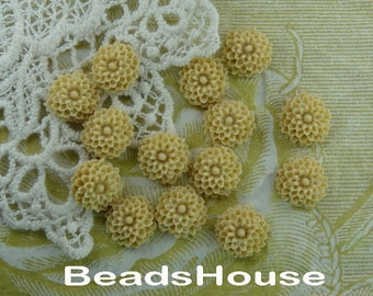 100-00-CA  12pcs Beautiful Resin Flower Cabochon,Almond