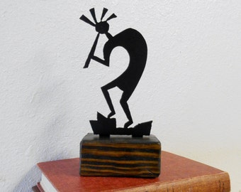 Kokopelli / Paperweight / Shelf Decoration / Reclaimed Wood / Home Decor