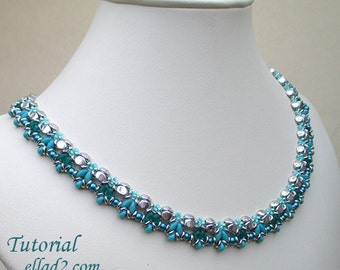 Tutorial Pinchy Necklace - Beading Tutorial, Instant download, PDF file, Jewelry Tutorials
