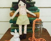 Earnest Edith - Handmade Doll in Vintage Prints