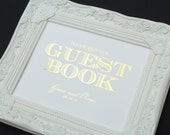 Guest Book Wedding Sign, 8 x 10 GOLD FOIL Wedding Sign, PERSONALIZED Guest Book Sign or Wedding Sign by Abigail Christine Design
