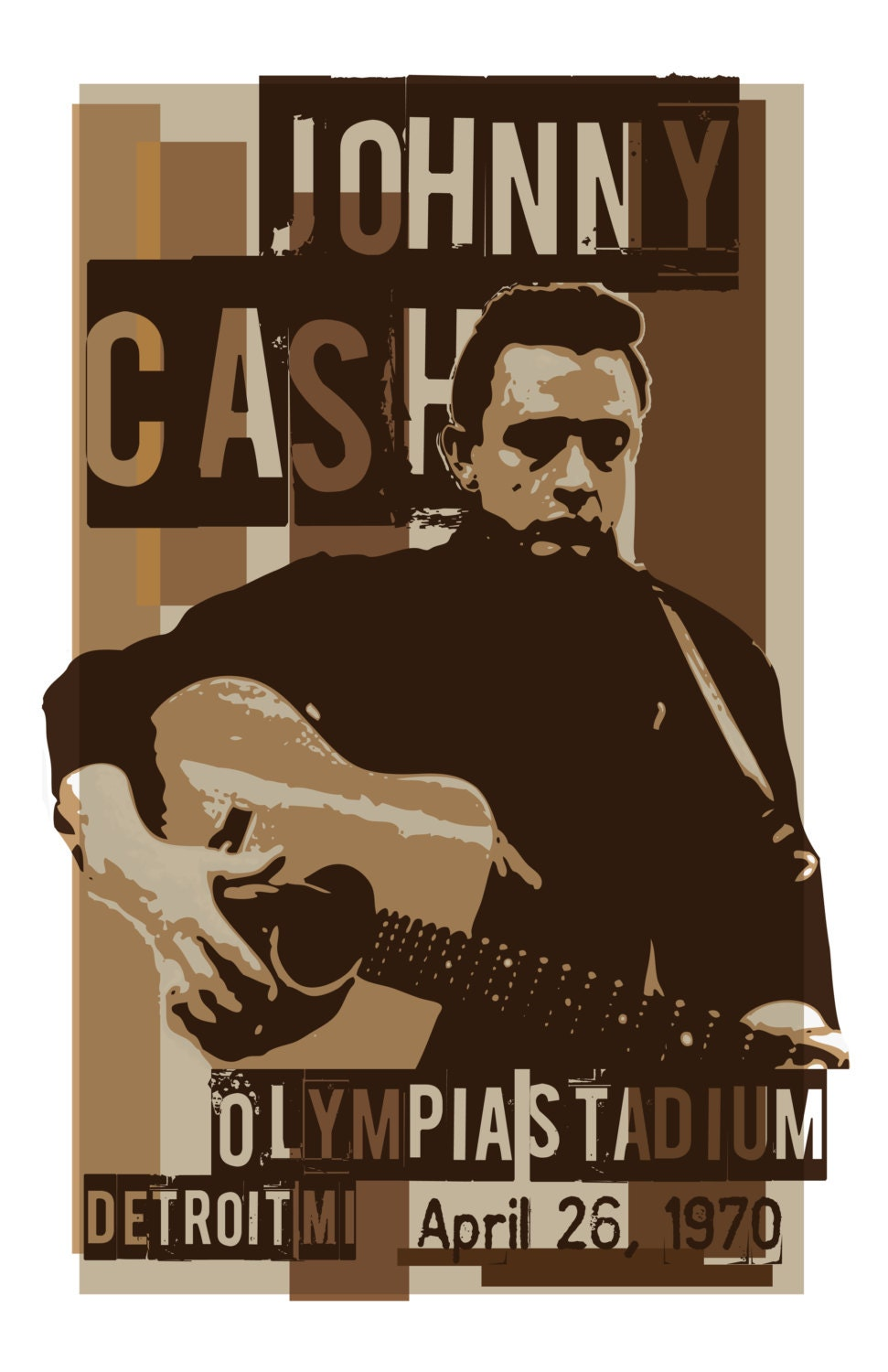 johnny cash concert poster. Black Bedroom Furniture Sets. Home Design Ideas