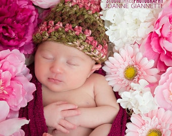 Chocolate Cherry Newborn Gnome Hat