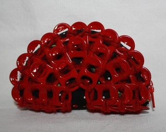 Cherry red pop tab coin purse