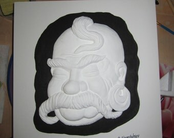 "OOAK 3D ""Mask"" Wall Art"
