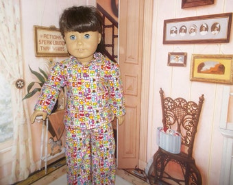 """Owls flannel pajamas fit 18"""" American Girl dolls"""