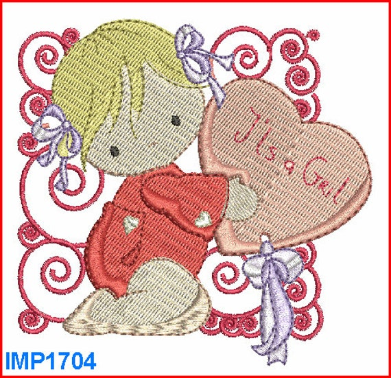 Baby machine embroidery designs pattern girl