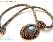 SALE Labradorite seed beed necklace