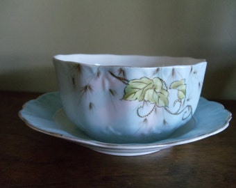 Antique China Cereal Bowl and Plate Set // 479