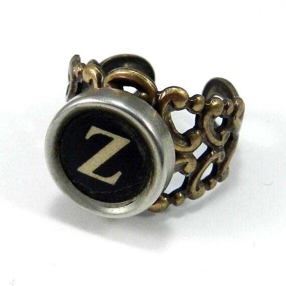 Typewriter Key Ring