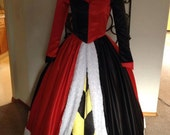 Queen of Hearts Custom Costume Womens Adult size