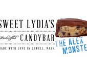 Listing for dogthief Gourmet Chocolate Chip Cookie Dough Caramel Milk Chocolate Candy Bar - The Alex Monster - Gift Box of 3