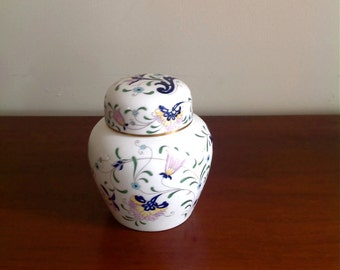 Vintage Coalport China Pageant Small Ginger Jar - Made In England