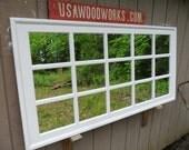 White  multipane 60 x 30  mantel mirror