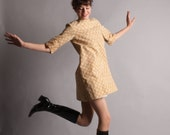 60s Mini Dress - Vintage 1960s MOD Dress - Hop Skip Dress